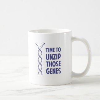Time To Unzip Those Genetic Genes Coffee Mug