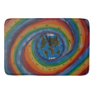 Time travel bath mat