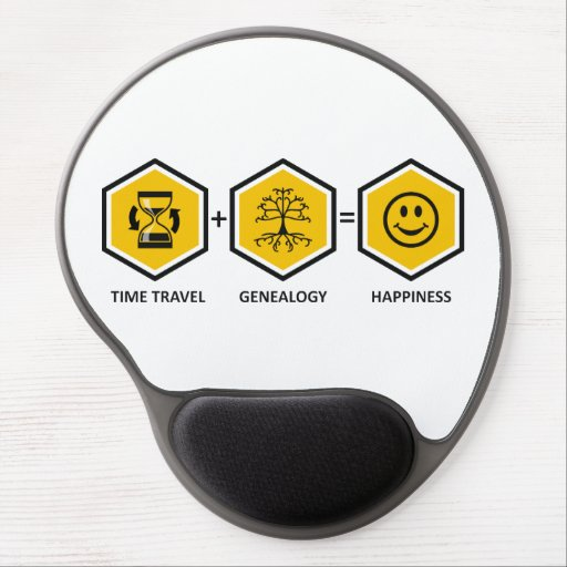 Time Travel + Genealogy = Happiness Gel Mouse Pad