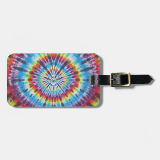 Time Travel Tunnel Tie Dye Luggage Tag