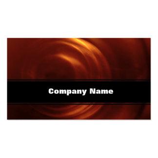 Time Traveller's Orange Vortex Pack Of Standard Business Cards