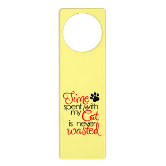 TIme With Cat Door Hanger