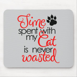 TIme With Cat Mouse Pad
