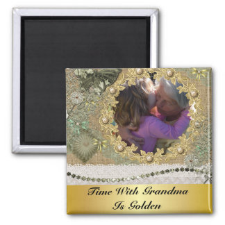 Time With Grandma Is Golden Personalized Magnet