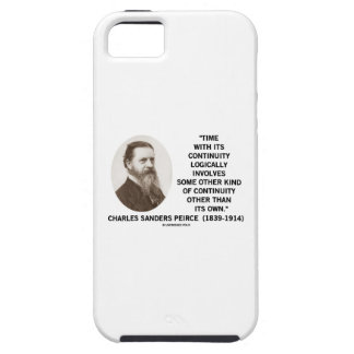 Time With Its Continuity Logically Peirce Quote iPhone 5 Case