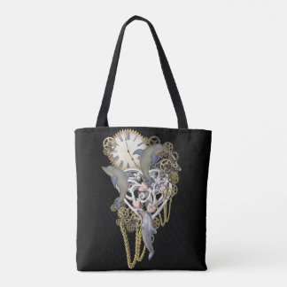 Time with the dolphins tote bag
