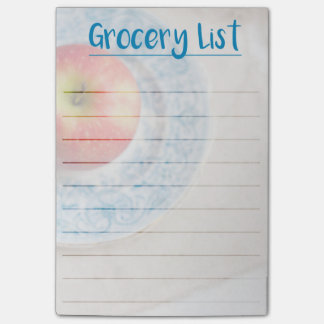 Timeless Apple - Grocery List Post-it Notes