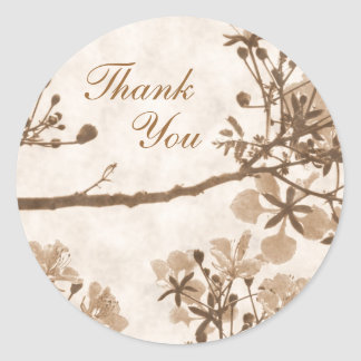Timeless  Bliss - Thank You Classic Round Sticker