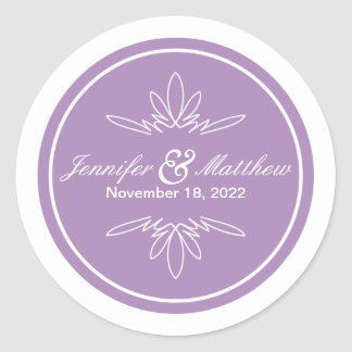Timeless Charm Wedding Stickers - Orchid