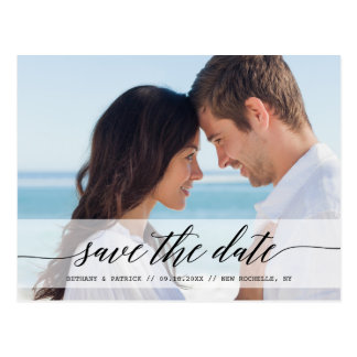 Timeless Chic Save the Date Photo Announcement Postcard