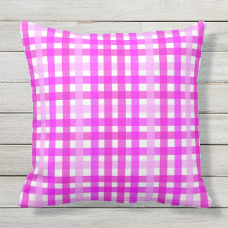 TIMELESS CLASSIC PINK GINGHAM throw cushion