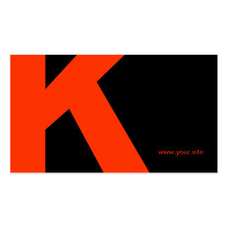 Timeless Huge Letter Business Card Black Red