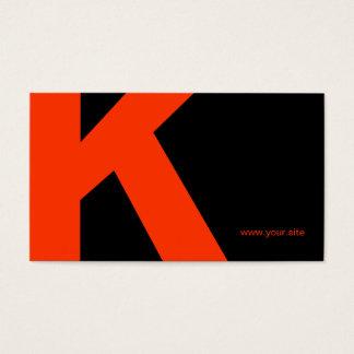 Timeless Huge Letter Business Card (Black & Red)