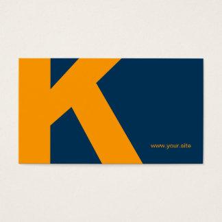 Timeless Huge Letter Business Card (Blue & Orange)