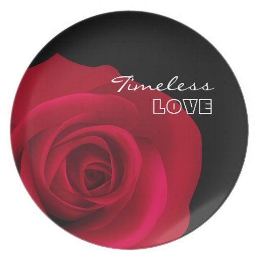 Timeless Love. Valentine´s Day Gift  Plate Party Plates