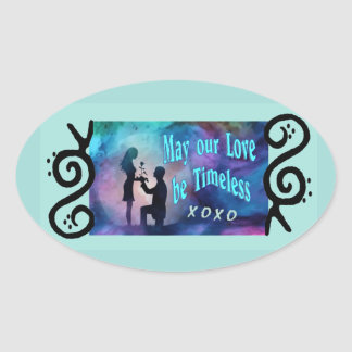 Timeless Luv Oval Sticker