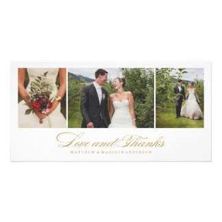 Timeless | Wedding Thank You Photo Card