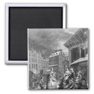 Times of the Day, Morning, 1738 Square Magnet