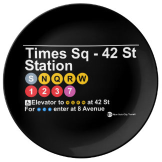 Times Square - 42 Street Plate