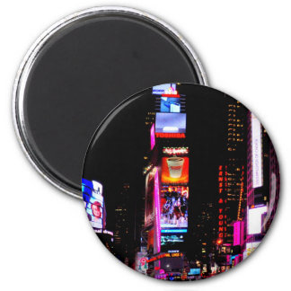 Times Square 6 Cm Round Magnet
