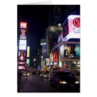 Times Square at night in Manhattan, New York Greeting Card