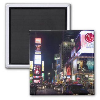 Times Square at night in Manhattan, New York Refrigerator Magnet