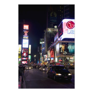 Times Square at night in Manhattan, New York Photo Art