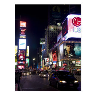 Times Square at night in Manhattan, New York Postcard