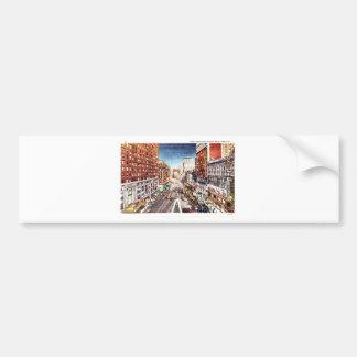 Times Square at Nigth Vintage Print Bumper Sticker