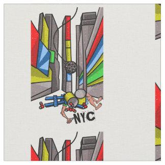 Times Square Ball Drop Funny Cartoon Fabric