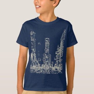 Times Square Dark Kids T-Shirt