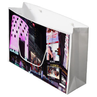 Times Square in New York City (pink) Large Gift Bag