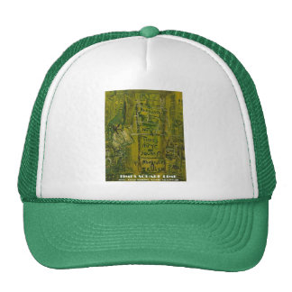 times square lime hat