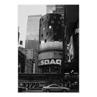 Times Square New York City Black And White Photo Poster