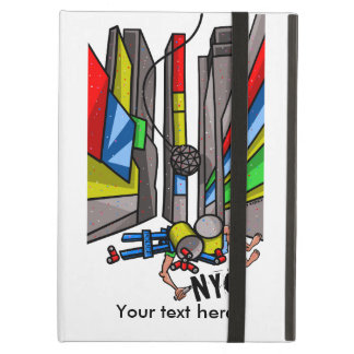 Times Square New York City Funny Cartoon iPad Air Cover