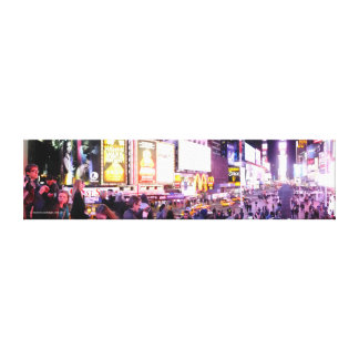 Times Square New York Panoramic Stretched Canvas Print