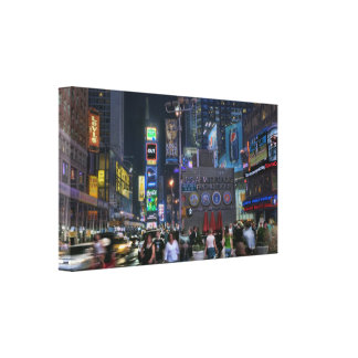 Times Square Night Gallery Wrapped Canvas