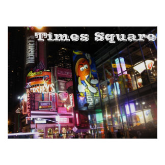 Times Square @ Night Poster