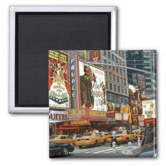 Times Square NY Square Magnet