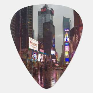 Times Square NYC New York City Rainy Day Photo Plectrum