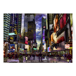 Times Square Photo in HDR Card