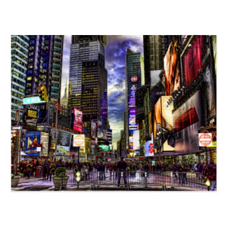 Times Square Photo in HDR Postcard