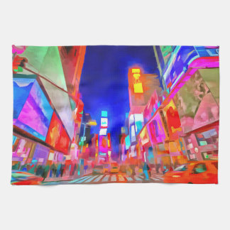Times Square Pop Art Tea Towel