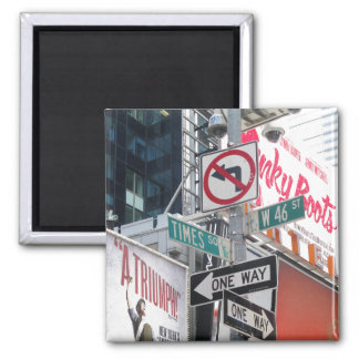 Times Square Signs Fridge Magnet
