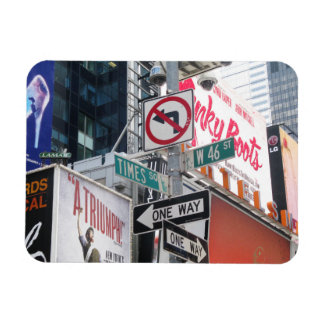 Times Square Signs Vinyl Magnets