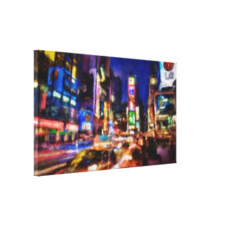 Times Square Study 1 Stretched Canvas Prints