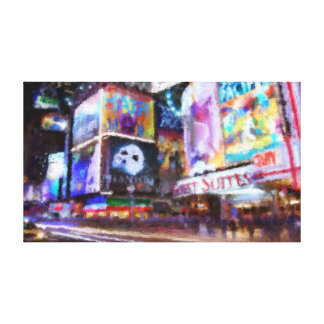 Times Square Study 2 Gallery Wrap Canvas