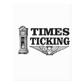 times ticking ttt postcard
