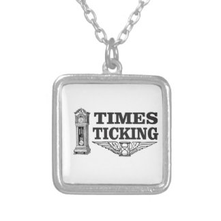 times ticking ttt silver plated necklace