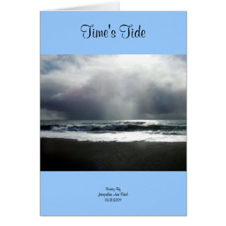 Time's Tide Greeting Card